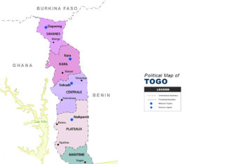 Togo Map - Political