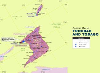 Trinidad and Tobago Map - Political