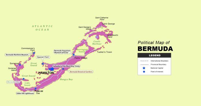 Bermuda Map - Political