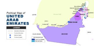 UAE Map - Political Map of United Arab Emirates
