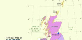 UK Map - POLITICAL MAP OF UNITED KINGDOM