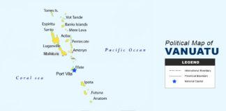 VANUATU map political