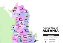 Albania Map - Political