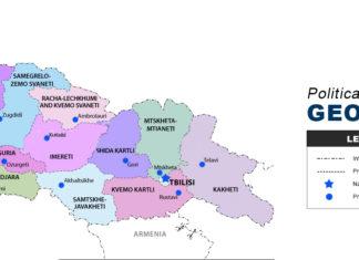 Georgia map political