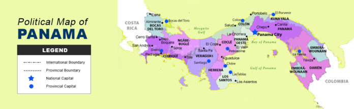 Panama Map - Political